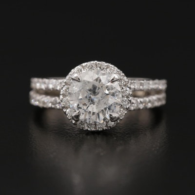 14K White Gold 1.86 CTW Diamond Ring