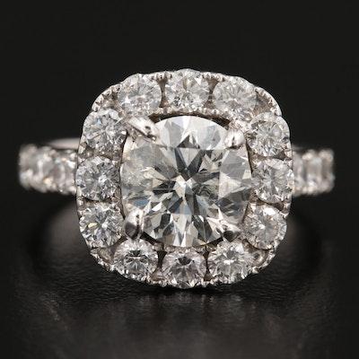 14K White Gold 3.32 CTW Diamond Ring