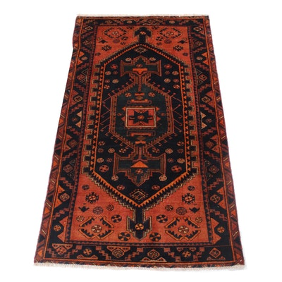 3'5 x 7'7 Hand-Knotted Northwest Persian Rug, 1970s