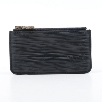 Louis Vuitton Black Epi Leather Coin Purse