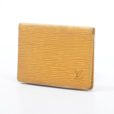 Louis Vuitton Epi Leather Card Holder in Tassil Yellow