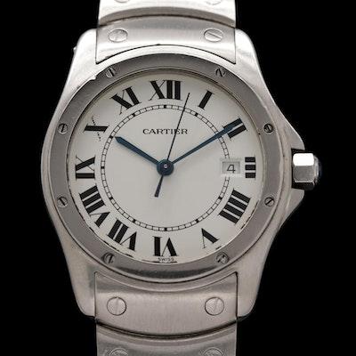 Cartier Santos Ronde Stainless Steel Quartz Wristwatch