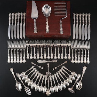"Gorham ""Strasbourg"" Sterling Flatware and Serving Utensils with Chest"