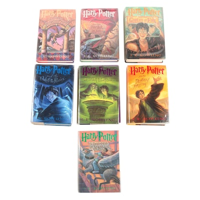 "Complete Set ""Harry Potter"" First American Editions including First Printings"