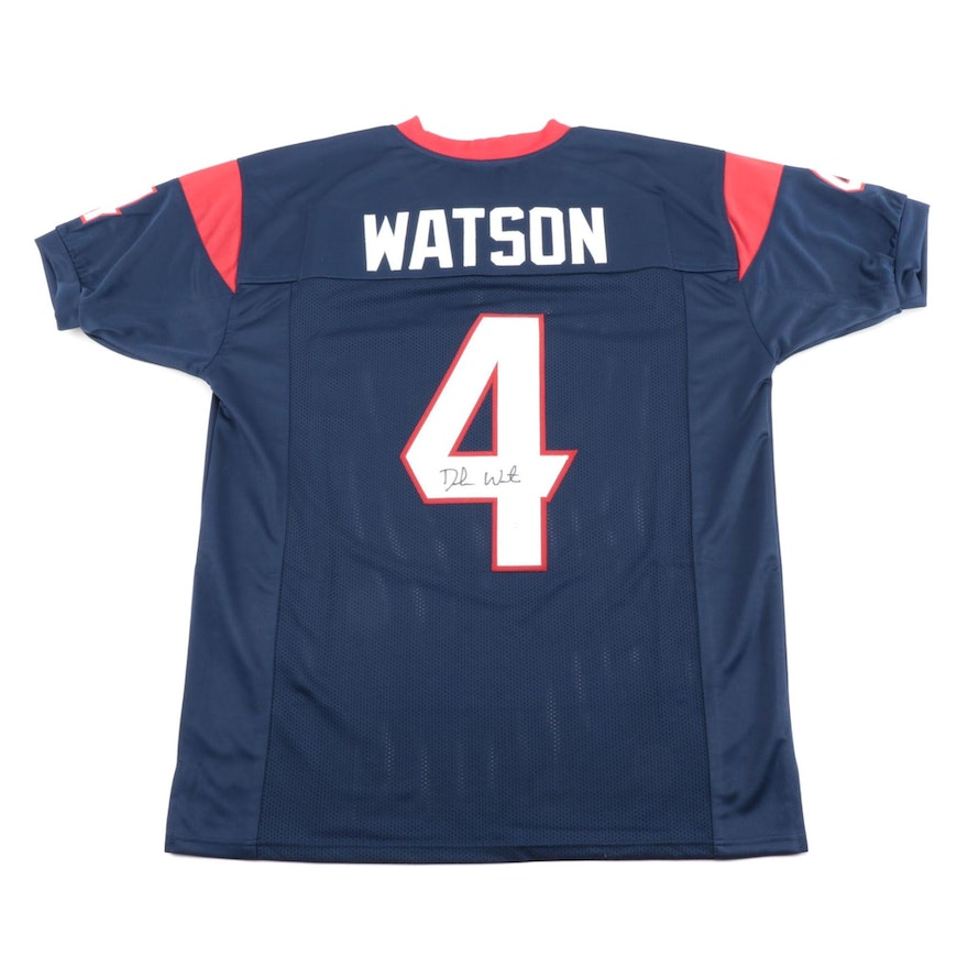 Deshaun Watson Signed Houston Texans NFL Football Jersey, JSA COA