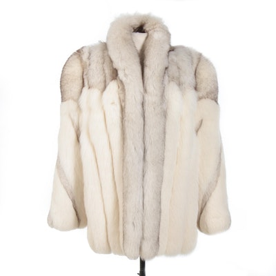 Saga Fox Full Skin Blue Fox Fur Jacket from Furs by Wilsons