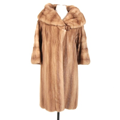 Mink Fur Coat with Shawl Collar from Oak Park Furriers, Vintage