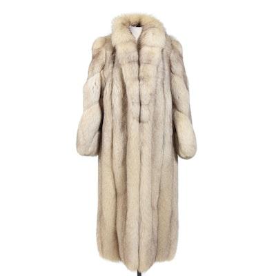 Saga Fox Full Skin Blue Fox Fur Coat from Lazare's Furs