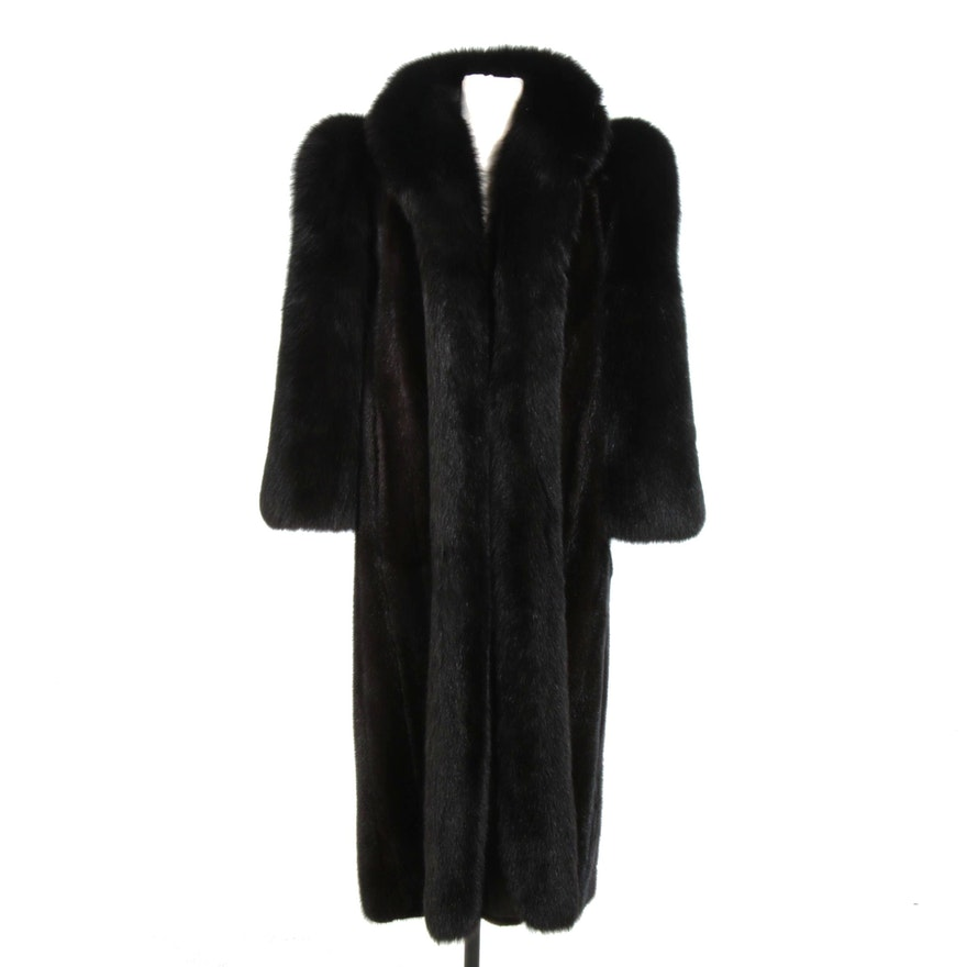 Black Mink and Fox Fur Coat from Oak Park & Athens Furs