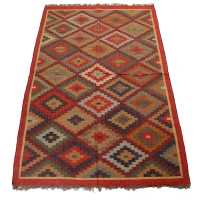 5'4 x 8'4 Handwoven Turkish Kilim Wool Rug