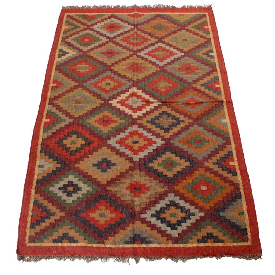 5'4 x 8'4 Handwoven Turkish Kilim Wool Rug