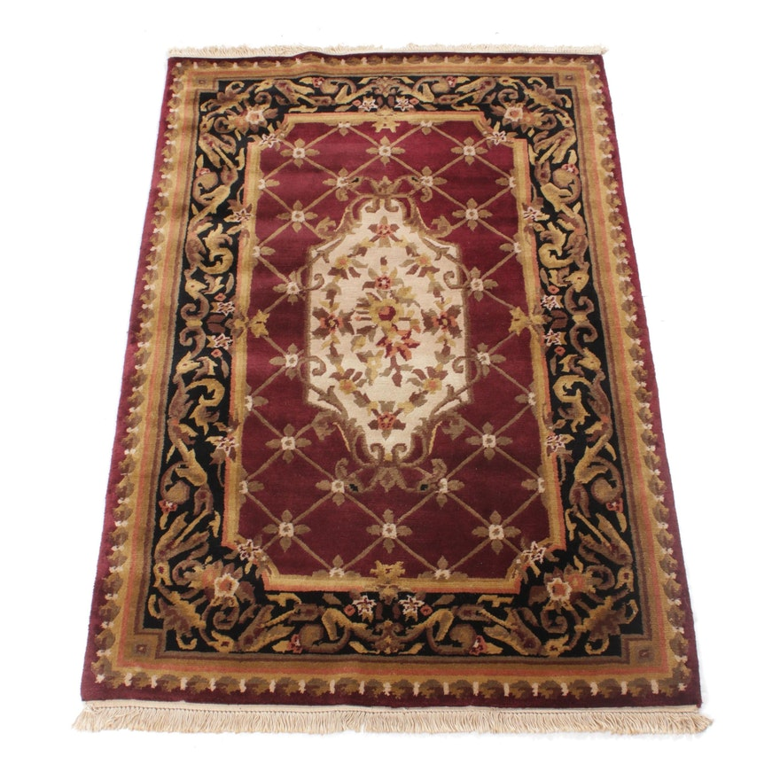 4'1 x 6'6 Hand-Knotted Indo-Persian Tabriz Rug, 2000s