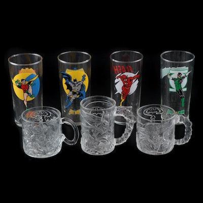"""Super Powers"" Drinking Glasses and Mugs Including Batman, Flash, Green Lantern"