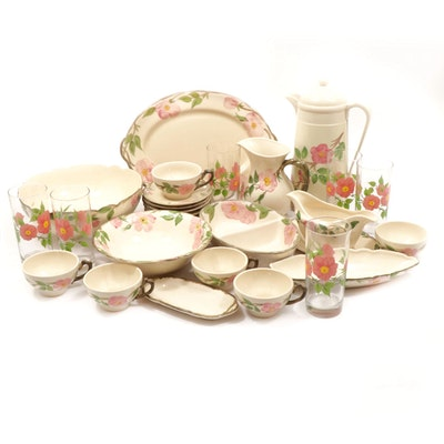 "Franciscan ""Desert Rose"" Earthenware Dinner and Serveware"