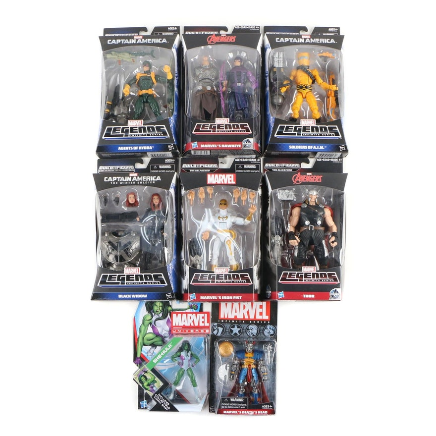 "Hasbro Marvel ""Legends and Universe"" Action Figures in Original Packaging"