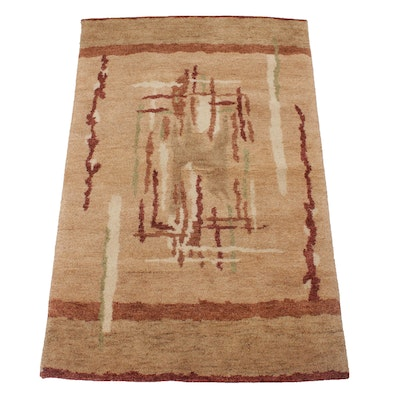 3'7 x 5'9 Hand-Knotted Indo-Persian Gabbeh Rug, 2000s