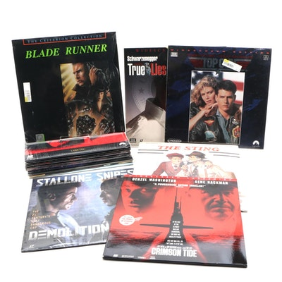 """Laser Video Discs """"The Sting,"""" """"Top Gun,"""" """"Total Recall,"""" and """"True Lies"""""""