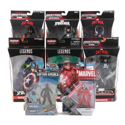 "Hasbro Marvel Comic ""Legend Series"" and ""Build A Figures"" in Original Packaging"