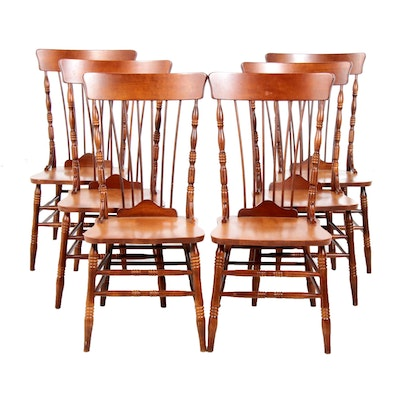 Early American Style Pine Dining Chairs from Bermex, Canda