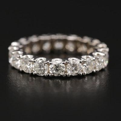 14K White Gold 2.16 CTW Diamond Eternity Ring