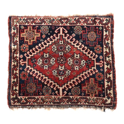 Hand-Knotted Persian Shiraz Wool Bag Face, circa 1920