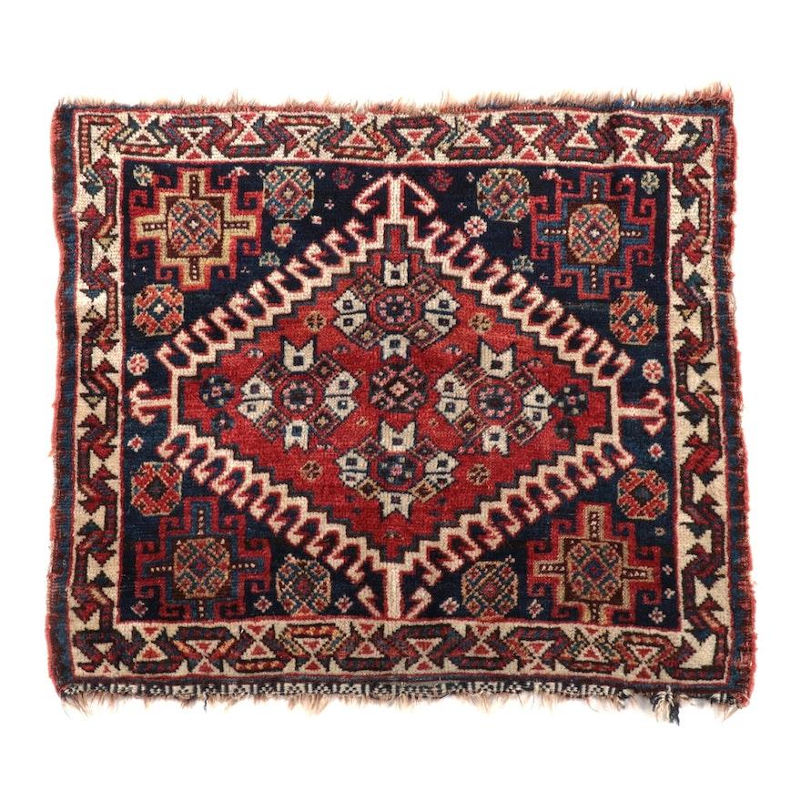Hand-Knotted Persian Shiraz Wool Bag Face, circa 1920