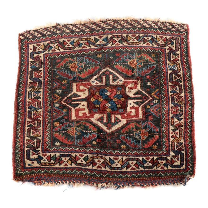 Hand-Knotted Persian Tribal Qashqai Wool Bag Face, circa 1925