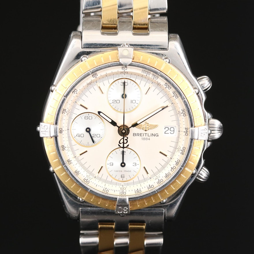 Breitling Chronomat 10TH Anniversary Ltd Edition 18K Gold and Stainless Watch