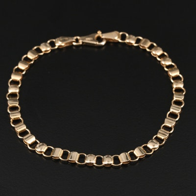 Vintage Italian UnoAErre 14K Yellow Gold Bracelet