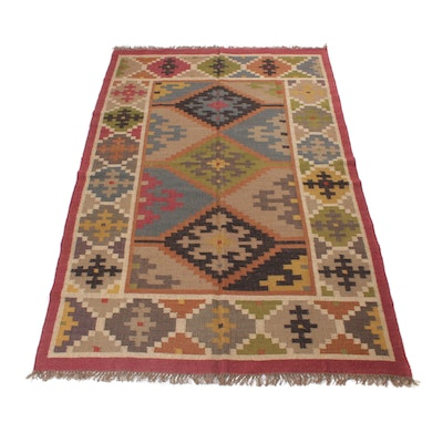 6'1 x 9'6 Handwoven Turkish Kilim Rug