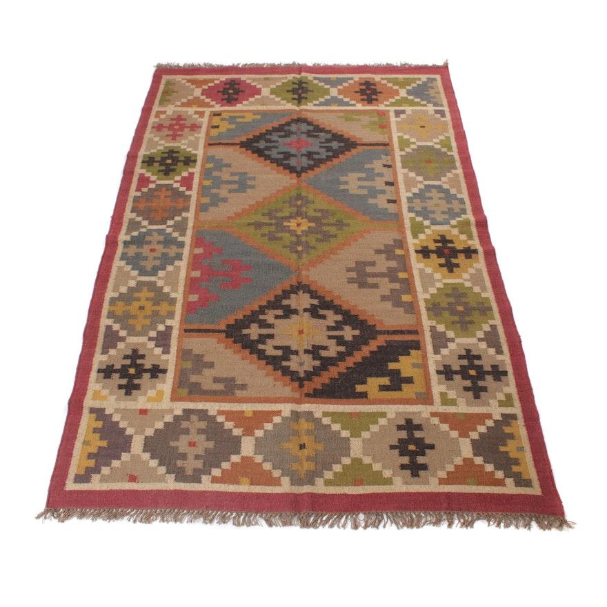 6'1 x 9'6 Handwoven Turkish Kilim Rug