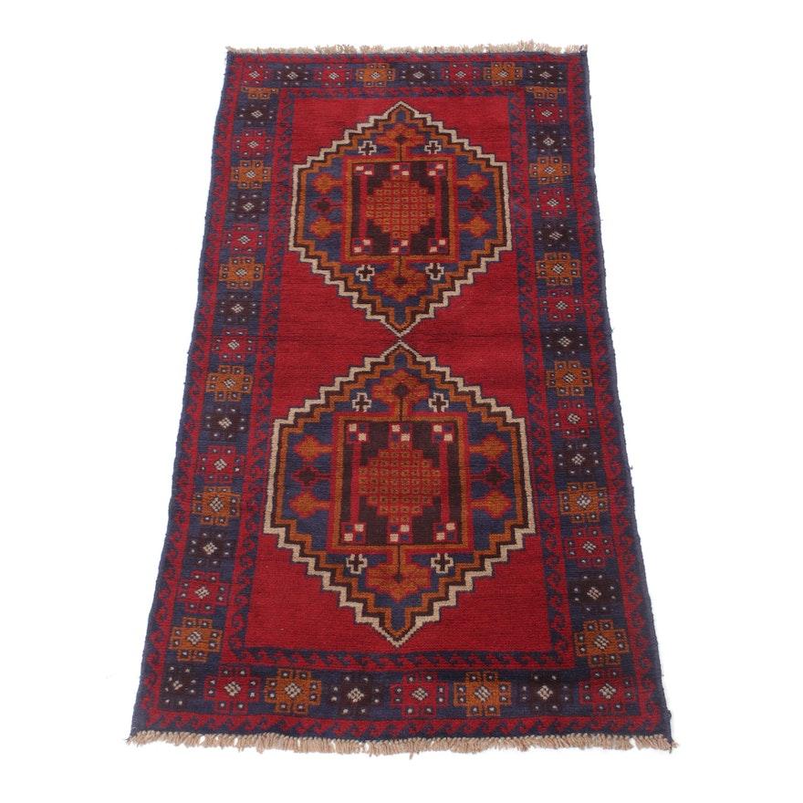 3'6 x 6'8 Hand-Knotted Afghani Kazak Rug