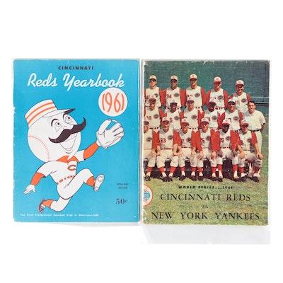 Cincinnati Reds 1961 World Series Program with Reds Yearbook