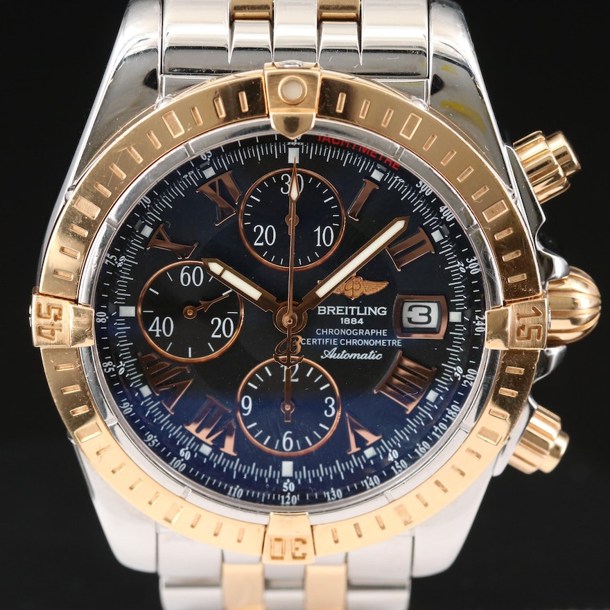 Breitling Chronomat Evolution 18K Gold and Stainless Steel Automatic Wristwatch