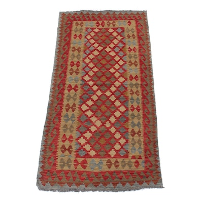 3'2 x 6'5 Handwoven Turkish Kilim Wool Rug
