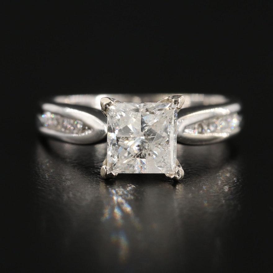 14K White Gold 2.03 CTW Diamond Ring