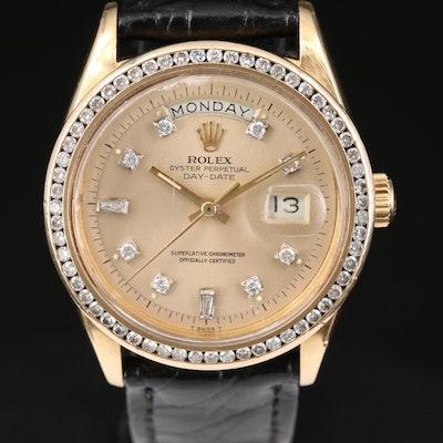 Rolex Day - Date 18K Yellow Gold 1.57 CTW Diamond Wristwatch, 1971