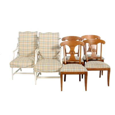 Ethan Allen Transitional Style Dining Chairs, Contemporary