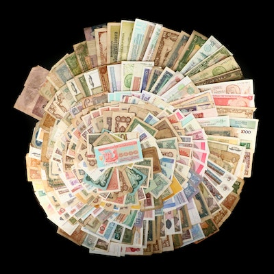257 Vintage to Modern Foreign Banknotes