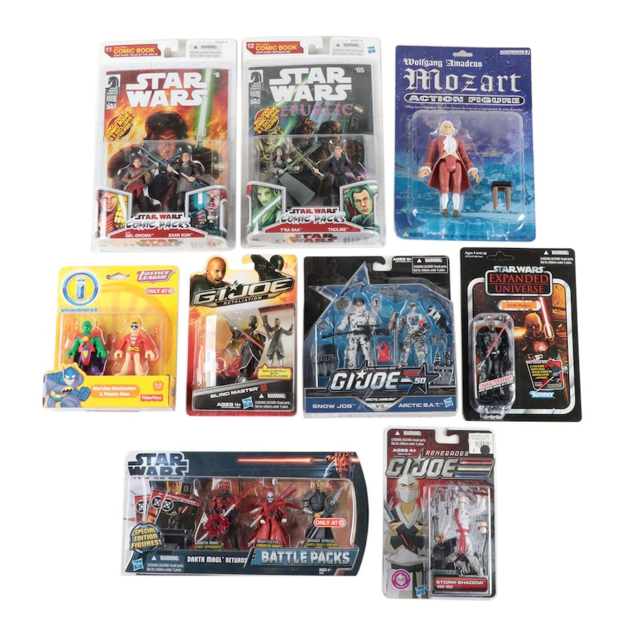 """Hasbro """"Star Wars"""" GI Joe, and Other Action Figures in Original Packaging, 2009"""