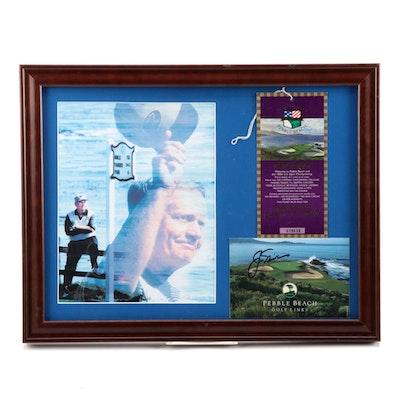 "Jack Nicklaus Signed ""100th US Open"" Pebble Beach PGA Photo Collage, PSA/DNA COA"