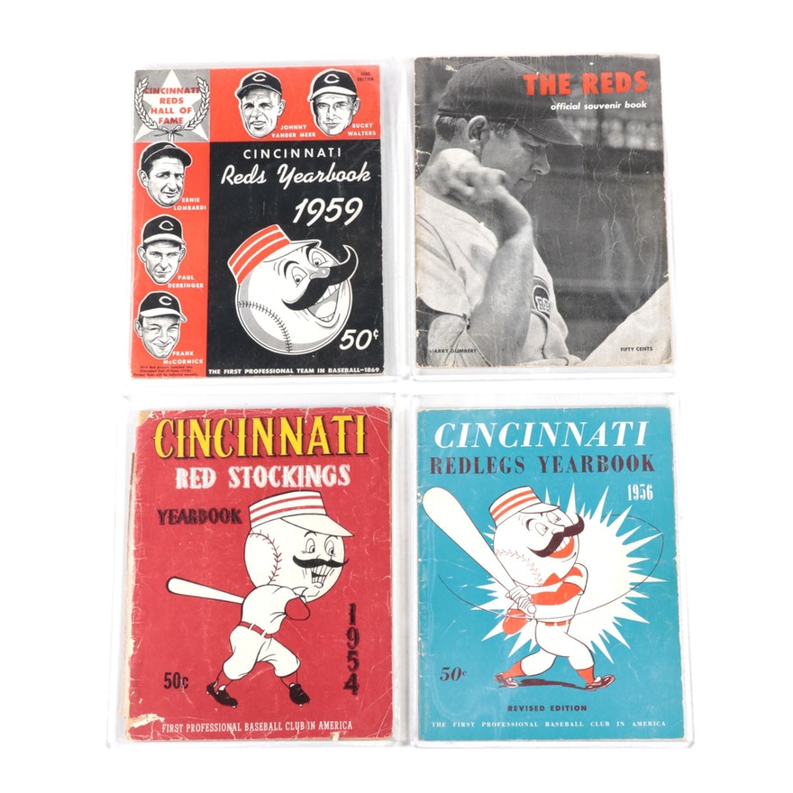 Cincinnati Reds Yearbook Programs, Mid-Century