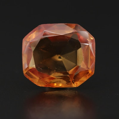 Loose 18.84 CT Synthetic Orange Sapphire with GIA Report