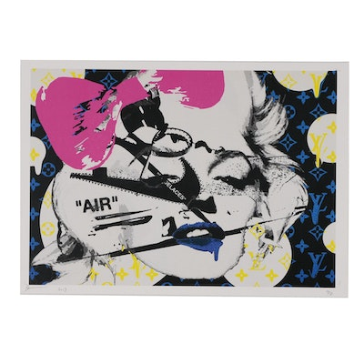 "Death NYC Offset Lithograph ""Monroe Bubble AIR"""