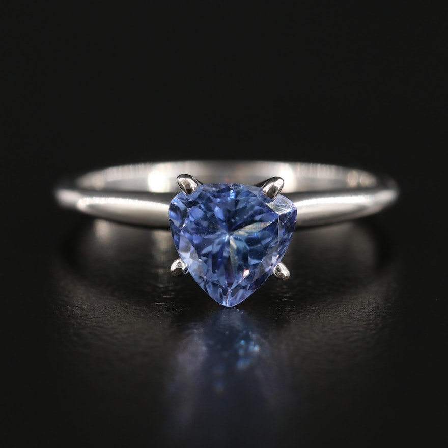 14K White Gold Tanzanite Ring