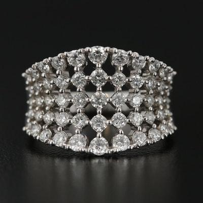 18K White Gold 1.43 CTW Diamond Ring