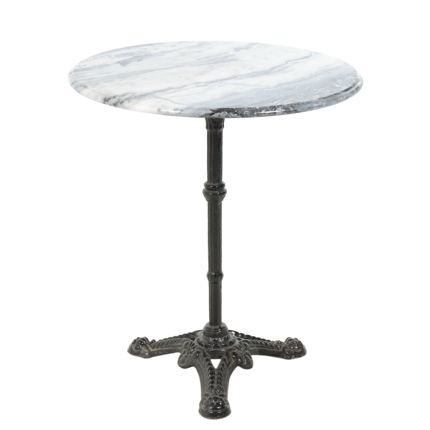 Marble Top Cast Iron Table