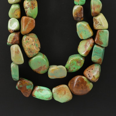 Desert Rose Trading Turquoise Necklace with Sterling Silver Clasp
