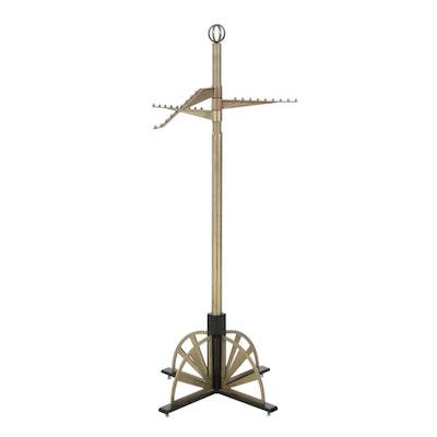 Art Deco Style Metal Adjustable Clothing Hanger