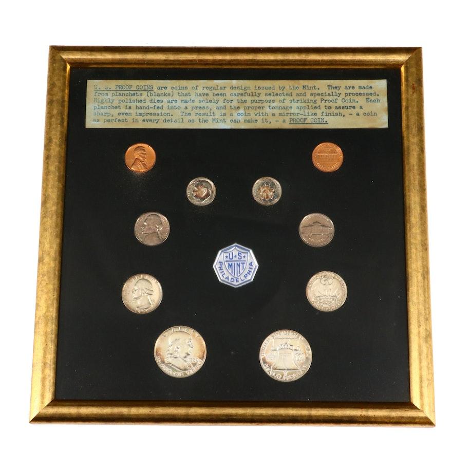 Framed U.S. Type Coin 1959 Proof Sets